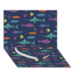 Twiddy Tropical Fish Pattern Heart Bottom 3d Greeting Card (7x5)