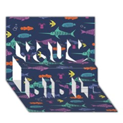 Twiddy Tropical Fish Pattern You Did It 3d Greeting Card (7x5)