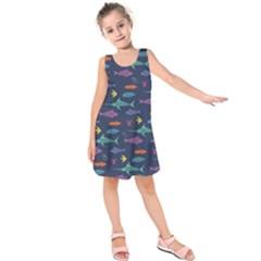 Twiddy Tropical Fish Pattern Kids  Sleeveless Dress