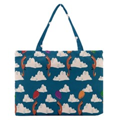 Foxfabricsmall Weasel Medium Zipper Tote Bag