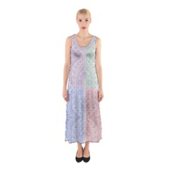 Seamless Kaleidoscope Patterns In Different Colors Based On Real Knitting Pattern Sleeveless Maxi Dress