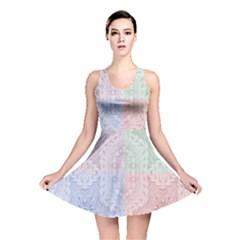 Seamless Kaleidoscope Patterns In Different Colors Based On Real Knitting Pattern Reversible Skater Dress
