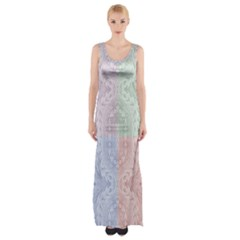 Seamless Kaleidoscope Patterns In Different Colors Based On Real Knitting Pattern Maxi Thigh Split Dress