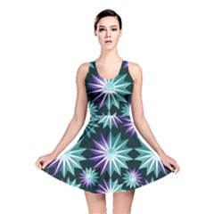 Stars Pattern Christmas Background Seamless Reversible Skater Dress