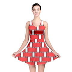 Weave And Knit Pattern Seamless Background Wallpaper Reversible Skater Dress