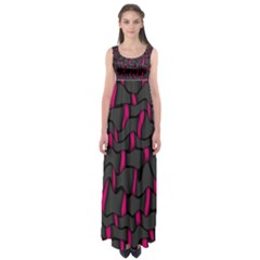 Weave And Knit Pattern Seamless Background Empire Waist Maxi Dress