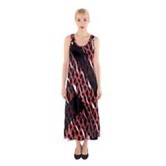 Weave And Knit Pattern Seamless Sleeveless Maxi Dress