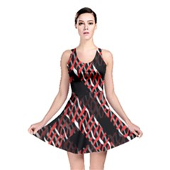 Weave And Knit Pattern Seamless Reversible Skater Dress