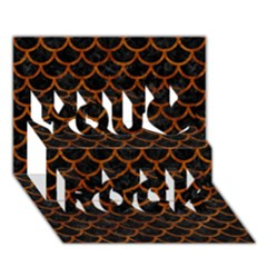 Scales1 Black Marble & Brown Marble You Rock 3d Greeting Card (7x5)