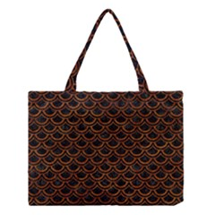 Scales2 Black Marble & Brown Marble Medium Tote Bag