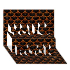 Scales3 Black Marble & Brown Marble You Rock 3d Greeting Card (7x5)