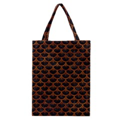 Scales3 Black Marble & Brown Marble Classic Tote Bag