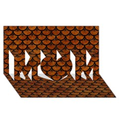 Scales3 Black Marble & Brown Marble (r) Mom 3d Greeting Card (8x4)