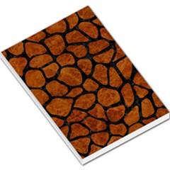 Skin1 Black Marble & Brown Marble Large Memo Pads