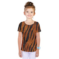 Skin3 Black Marble & Brown Marble (r) Kids  One Piece Tee