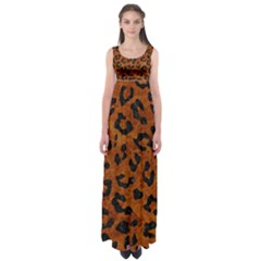 Skin5 Black Marble & Brown Marble Empire Waist Maxi Dress