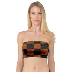 Square1 Black Marble & Brown Marble Bandeau Top
