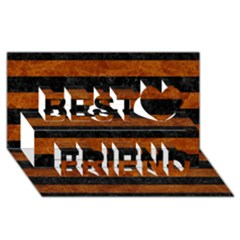 Stripes2 Black Marble & Brown Marble Best Friends 3d Greeting Card (8x4)