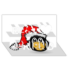 Christmas Animal Clip Art Best Friends 3D Greeting Card (8x4)