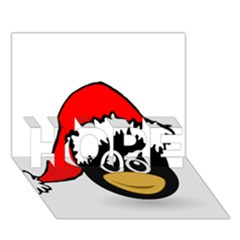 Christmas Animal Clip Art Hope 3d Greeting Card (7x5)