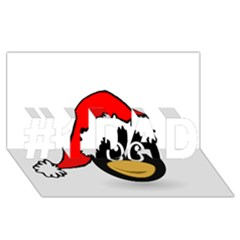 Christmas Animal Clip Art #1 Dad 3d Greeting Card (8x4)