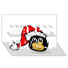 Christmas Animal Clip Art Merry Xmas 3d Greeting Card (8x4)
