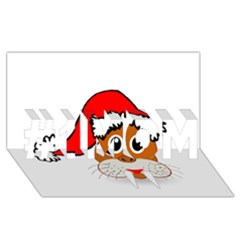Child Of Artemis Christmas Animal Clipart #1 MOM 3D Greeting Cards (8x4)