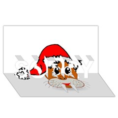 Child Of Artemis Christmas Animal Clipart SORRY 3D Greeting Card (8x4)