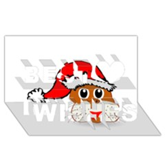 Child Of Artemis Christmas Animal Clipart Best Wish 3d Greeting Card (8x4)