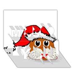 Child Of Artemis Christmas Animal Clipart Miss You 3D Greeting Card (7x5)