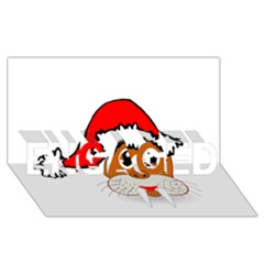 Child Of Artemis Christmas Animal Clipart Engaged 3d Greeting Card (8x4)