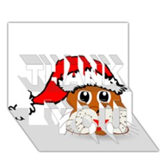 Child Of Artemis Christmas Animal Clipart Thank You 3d Greeting Card (7x5)