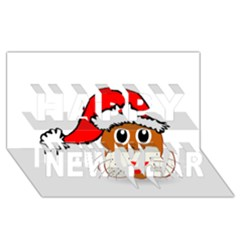 Child Of Artemis Christmas Animal Clipart Happy New Year 3d Greeting Card (8x4)
