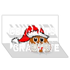 Child Of Artemis Christmas Animal Clipart Congrats Graduate 3d Greeting Card (8x4)