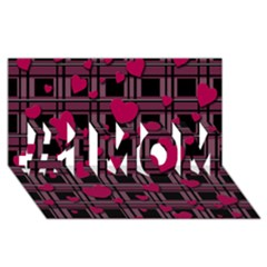 Harts Pattern #1 Mom 3d Greeting Cards (8x4)