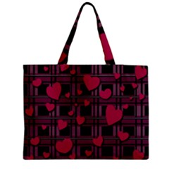 Harts Pattern Medium Tote Bag