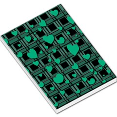 Green love Large Memo Pads