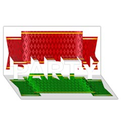 Christmas Banners Clipart Party 3d Greeting Card (8x4)