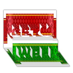Christmas Banners Clipart Get Well 3d Greeting Card (7x5)