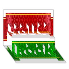 Christmas Banners Clipart You Rock 3d Greeting Card (7x5)