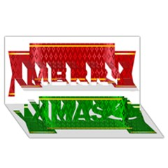 Christmas Banners Clipart Merry Xmas 3d Greeting Card (8x4)