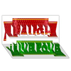 Christmas Banners Clipart Laugh Live Love 3d Greeting Card (8x4)
