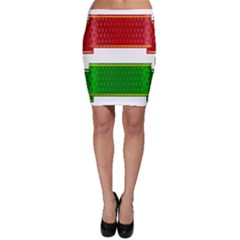 Christmas Banners Clipart Bodycon Skirt
