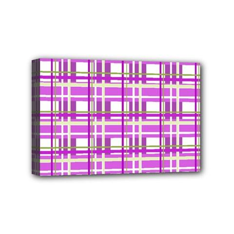 Purple plaid pattern Mini Canvas 6  x 4