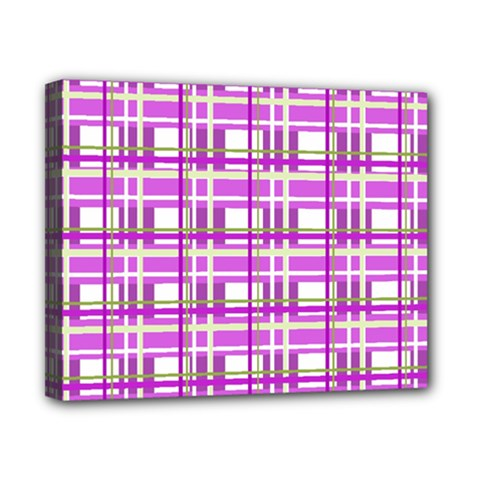 Purple plaid pattern Canvas 10  x 8