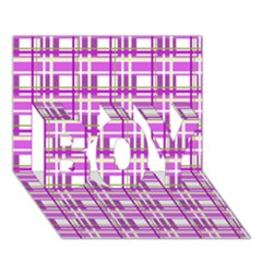 Purple plaid pattern BOY 3D Greeting Card (7x5)