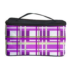 Purple plaid pattern Cosmetic Storage Case