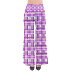 Purple plaid pattern Pants