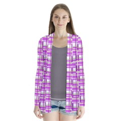 Purple plaid pattern Cardigans
