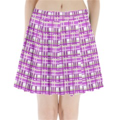 Purple plaid pattern Pleated Mini Skirt